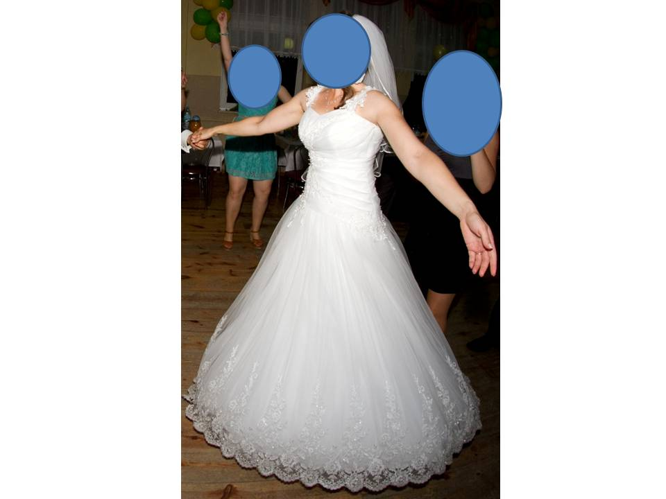 7c117441f2 Mam do sprzedania sukienkę Kamilla z salonu MS Moda. Suknia w kolorze  białym