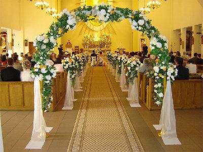 Dekorowanie Kościoła Na ślub