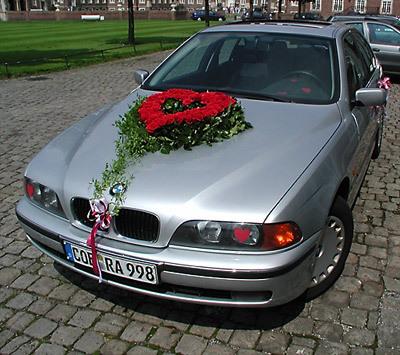 Tylko na zewnątrz Dekorowanie samochodu na ślub i wesele ZQ19