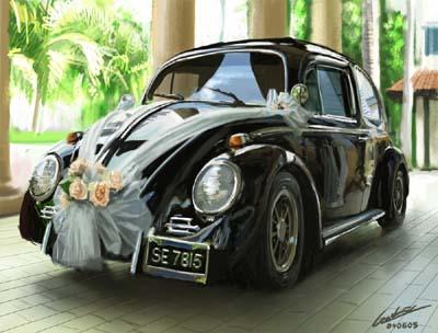 Groovy Dekorowanie samochodu na ślub i wesele IF08