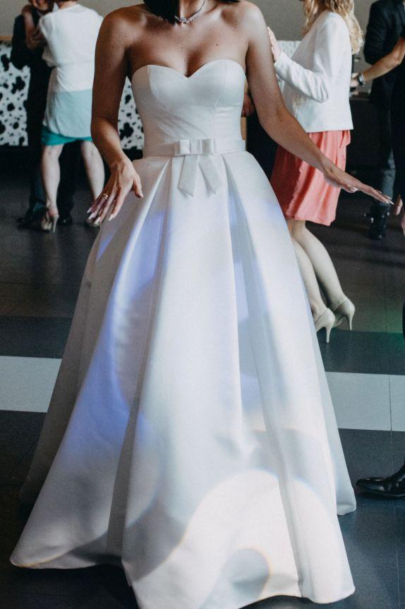 ba4a9bf24d Suknia ślubna Elegancka klasyczna suknia 38   172cm kolor  białą perłowa  rozmiar  38 z