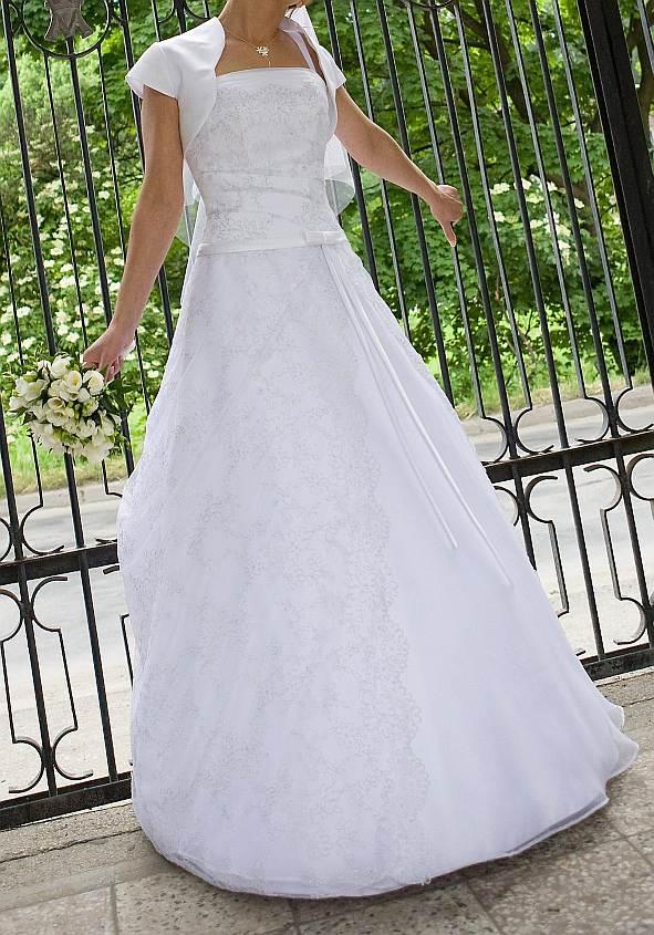 031f76498a Suknia ślubna elegancka niepowtarzalna 36 38 kolor  biała rozmiar  36 38