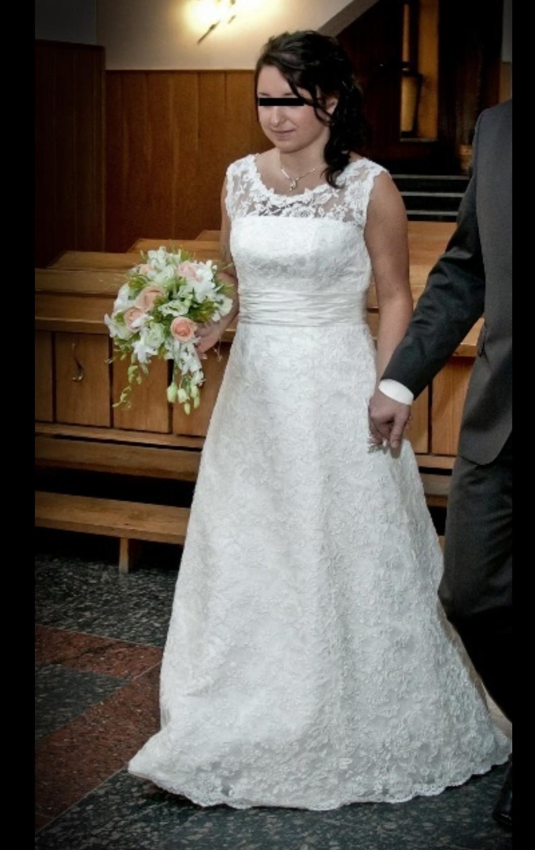 585d595c85 Suknia ślubna Koronkowa Suknia Ślubna 40 42 kolor  śmietanka rozmiar  40 42
