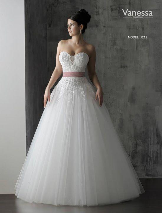 a170d49265 Suknia ślubna Nowa Suknia Ślubna Vanessa 1211 najtaniej kolor  z metki  Śmietana (jaśniejszy niż