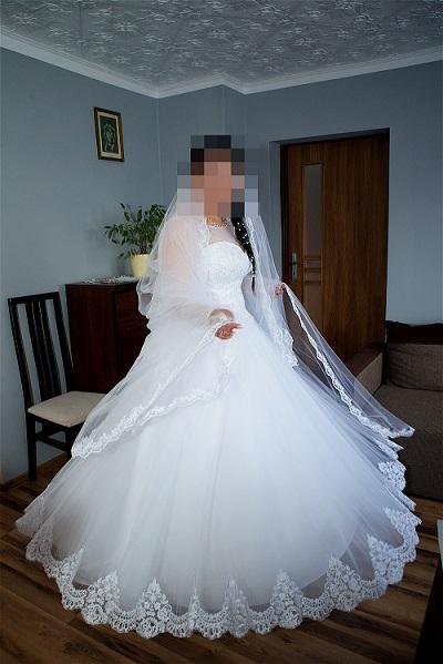 8b5c25c7db Bardzo Piękna suknia ślubna 42 44 - Szczecin - Zachodniopomorskie WN-97