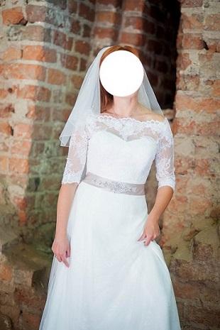 c66fe9b502 Piękna Suknia ślubna Amy Love Bridal French+ kaftanik