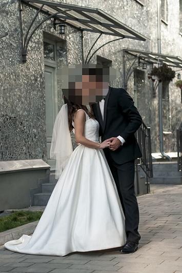 135b31ed1d Suknia ślubna Przepiękna suknia ślubna odkryte plecy kolor  Ivory rozmiar  S