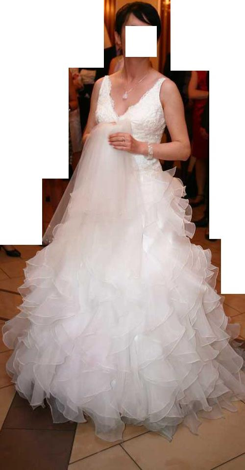 a7e583b449 Suknia ślubna Prześliczna włoska suknia ślubna MAGGIO RAMATTI kolor  ivory  rozmiar  36