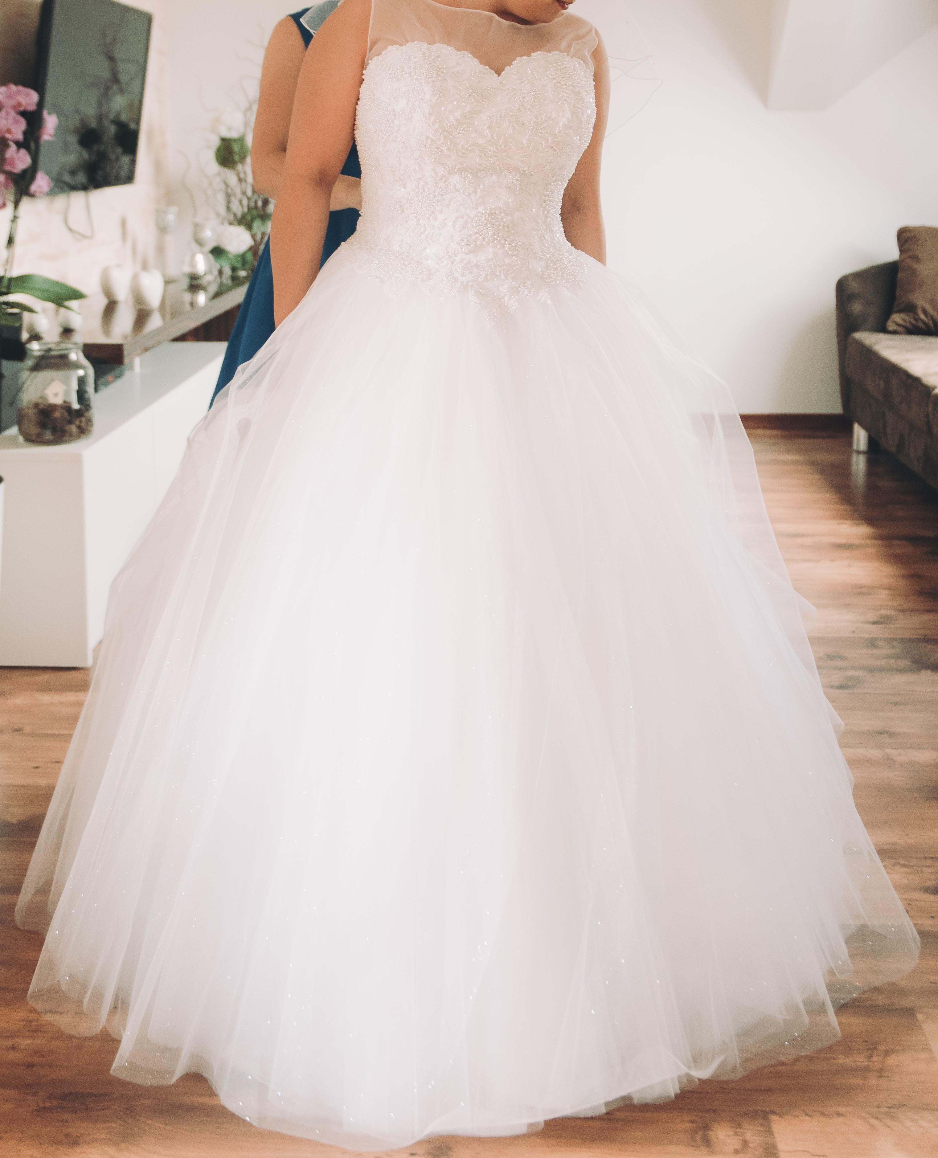 e6229034c2 Suknia ślubna Śliczna suknia ślubna Princesska rozm. 40 AGNES kolor  biały  rozmiar  40