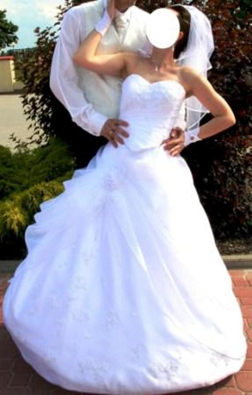 śliczna Suknia ślubna śnieżno Biała Dodatki Ożarów Mazowiecki