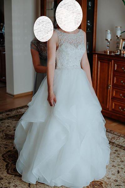 6f7bfcd222 Suknia ślubna Suknia śluba Justin Aleksander 9847 kolor  Ivory rozmiar   36 38