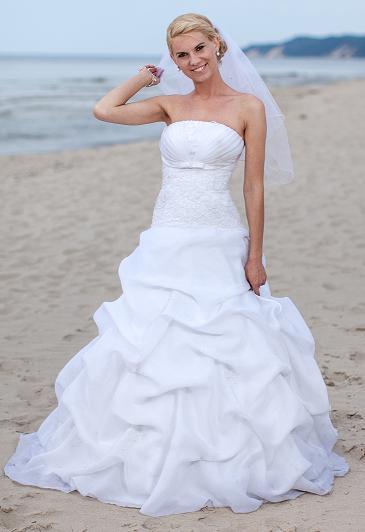 Suknia ślubna Biała Gratis Dodatki Rozmiar 3638 Goleniów