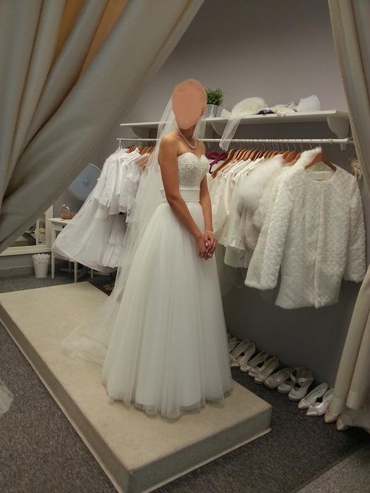3b2c9c966d Suknia ślubna Suknia delikatna księżniczka- Zestaw  suknia+bolerko+welon  kolor  ivory