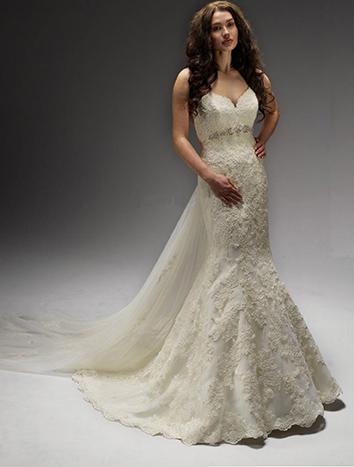 46d7bbf3de Suknia ślubna suknia ślubna diane legrand 13st3 2014 syrenka rybka tren  kolor  ivory rozmiar