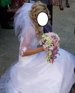 Suknia ślubna Kamienie Swarovskiego Welonbolerko Wrocław