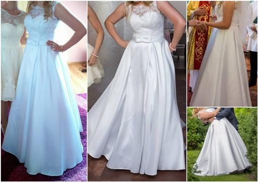 359c9e4b85 Suknia ślubna Suknia ślubna mikado 38 40 42 kolor  Biel rozmiar  38