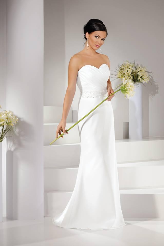 Suknia ślubna Prosta Biała Rozmiar 3634 Pyrzyce