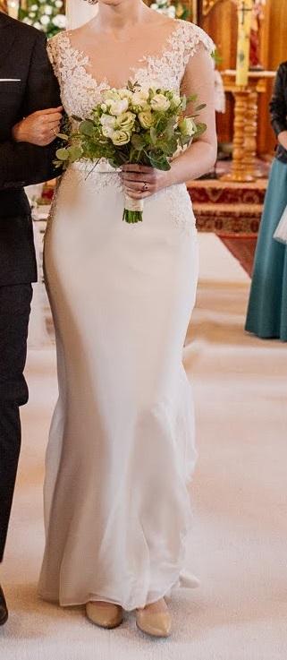 25a79ea8f4 Suknia ślubna suknia ślubna r 36 168cm ivory ecru kolor  ecru ivory  rozmiar  36
