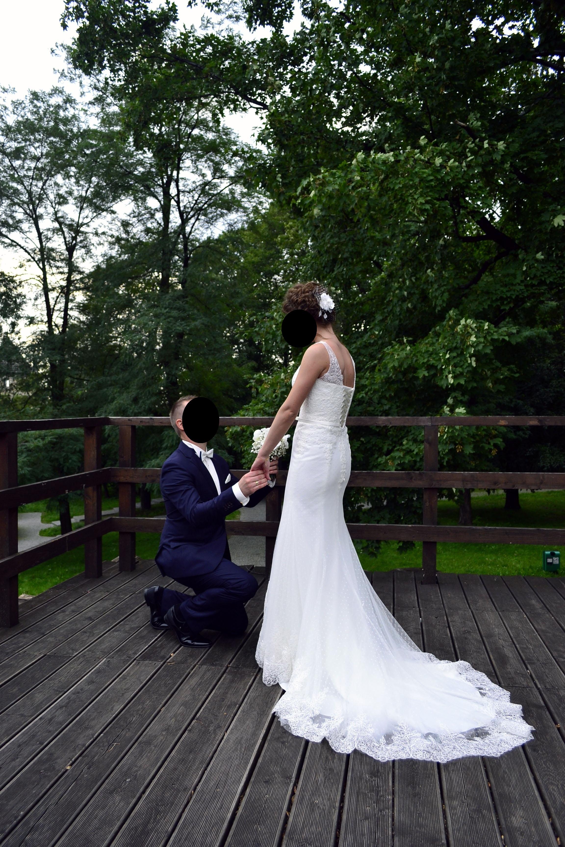 a5cbabe19b Suknia ślubna w kolorze ecru w rozmiarze xs s - Czeladź - Śląskie ...